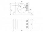 кронштейн (держатель) для шпинделя 80 мм крепления алюминиевые